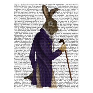 Hare In Purple Coat Postcard