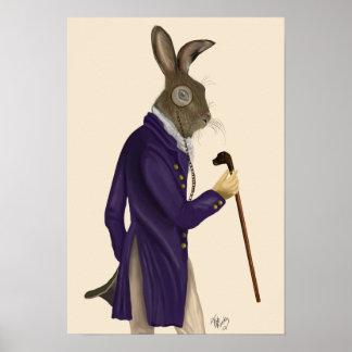 Hare In Purple Coat Poster