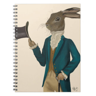 Hare In Turquoise Coat 2 Notebook