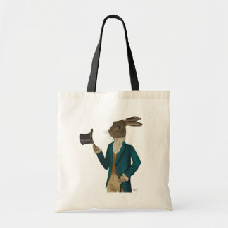 Hare In Turquoise Coat 2 Tote Bag