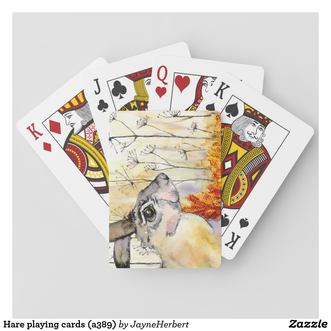 Hare playing cards (a389)