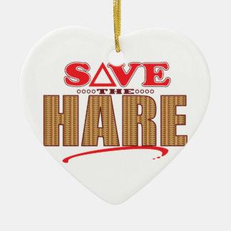 Hare Save Christmas Ornament