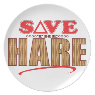 Hare Save Plate