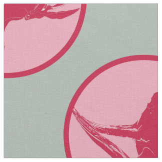 """""""Hare Tales"""" Printed Fabric in Raspberry"""