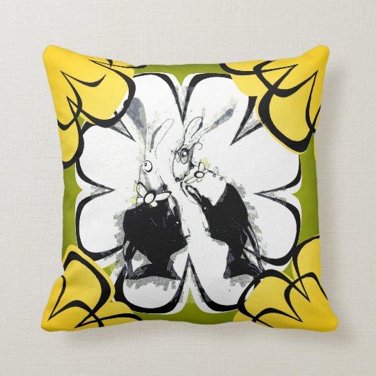 """Hare Tales"" Printed Throw Cushion"