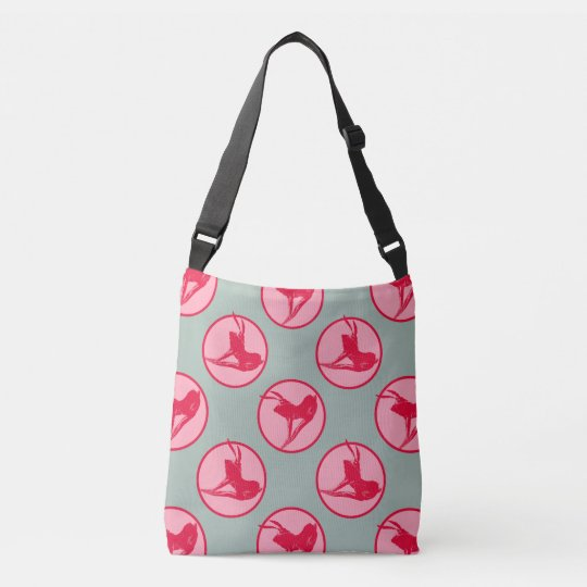 Hare Tales Raspberry all over print Bag. Crossbody