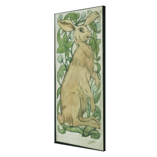 Hare (w/c on paper) canvas print