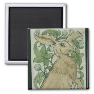 Hare (w/c on paper) magnet