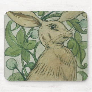 Hare (w/c on paper) mouse mat