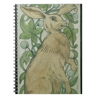 Hare (w/c on paper) spiral notebook
