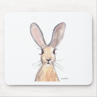 Hare watercolour painting mouse mat