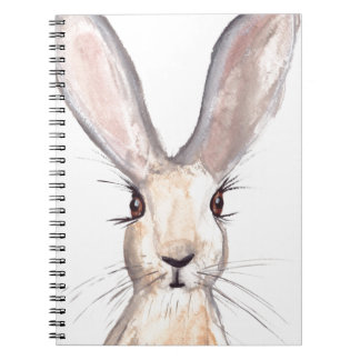Hare watercolour painting notebooks