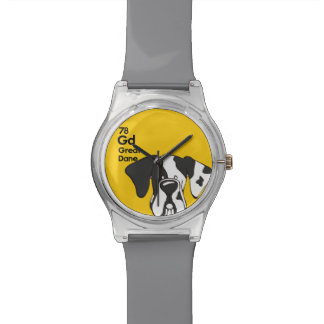 Harelequin Great Dane Natural Ears - The Dog Table Watch