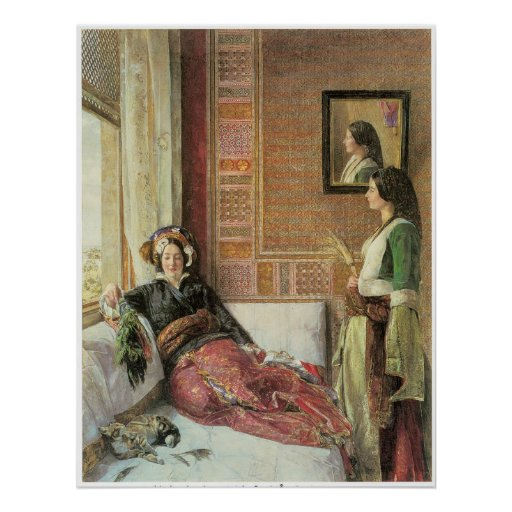 Harem life in Constantinople, 1857 Poster