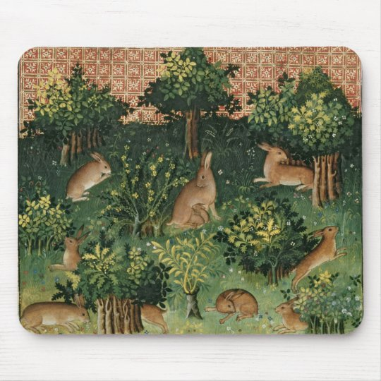 Hares in a Wood Mouse Mat