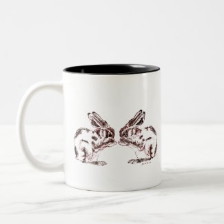 Hares Two-Tone Coffee Mug