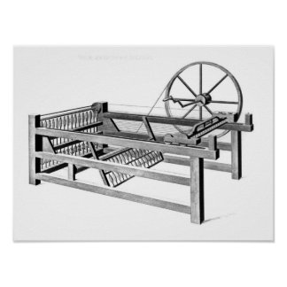 Hargreaves s Spinning Jenny engraved by Print