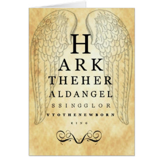 Hark The Herald Angels Sing Eye Chart Greeting Car Card