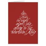 Hark the Herald Christmas carol lyric tree red