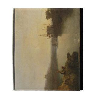 Harlech Castle, from Twgwyn Ferry, Summer's Evenin iPad Folio Cover