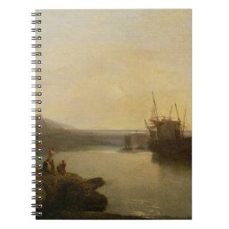Harlech Castle, from Twgwyn Ferry, Summer's Evenin Spiral Notebook
