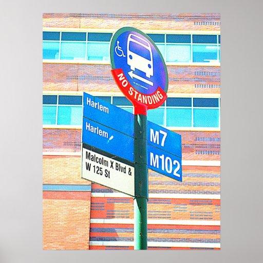 Harlem Bus Stop Poster