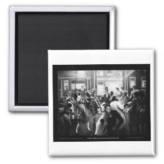 "Harlem Renaissance Art - ""Getting Religion"" Square Magnet"