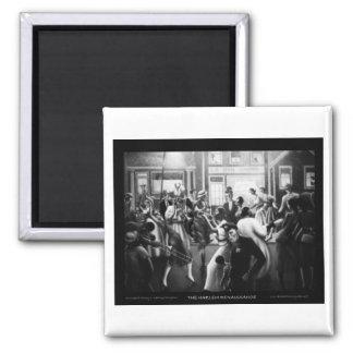 "Harlem Renaissance Art - ""Getting Religion"" Square Magnet"