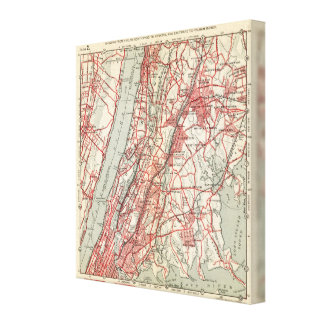 Harlem, Yonkers, Pelham Manor, New York Canvas Print