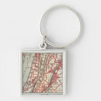 Harlem, Yonkers, Pelham Manor, New York Key Ring