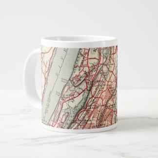 Harlem, Yonkers, Pelham Manor, New York Large Coffee Mug