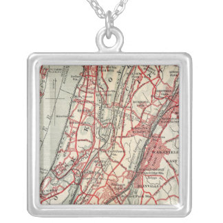 Harlem, Yonkers, Pelham Manor, New York Silver Plated Necklace