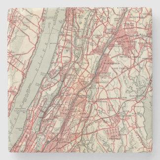 Harlem, Yonkers, Pelham Manor, New York Stone Beverage Coaster