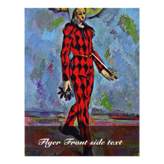 Harlequin By Paul Cézanne (Best Quality) Flyer
