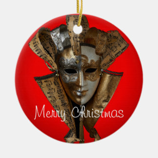 Harlequin Christmas Ornament