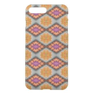 Harlequin Design Orange/Amethyst Gemstone Pattern iPhone 7 Plus Case