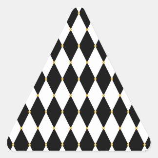 Harlequin Diamond Pattern Triangle Sticker