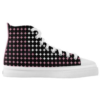 Harlequin Dot Print Hi Top Skate Shoes Printed Shoes