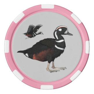 Harlequin Duck Poker Chips