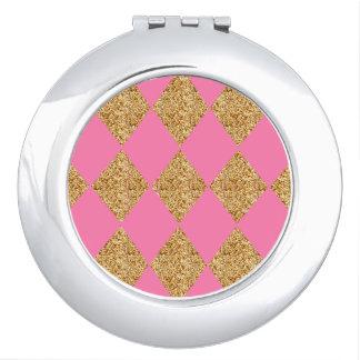 Harlequin_Elegant--Golden-Genie-Pink*-Multi-Shapes Vanity Mirror