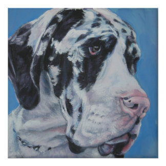 Harlequin Great Dane Art print