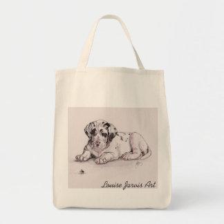 Harlequin Great Dane Canvas Shopping Bag