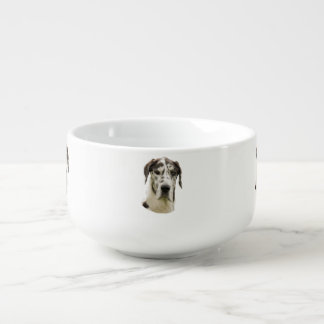 Harlequin Great Dane dog photo Soup Mug