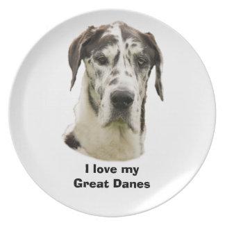 Harlequin Great Dane photo Plate