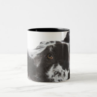 Harlequin Great Dane Two-Tone Coffee Mug
