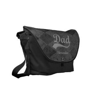 Harlequin Grey Shades Dad Courier Bag