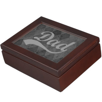 Harlequin Grey Shades Dad Father's Day Keepsake Box