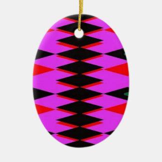 Harlequin Hot Pink Jokers Deck Ceramic Oval Decoration