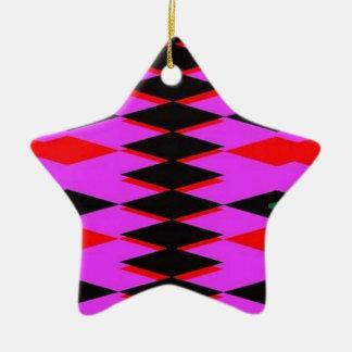 Harlequin Hot Pink Jokers Deck Ceramic Star Decoration