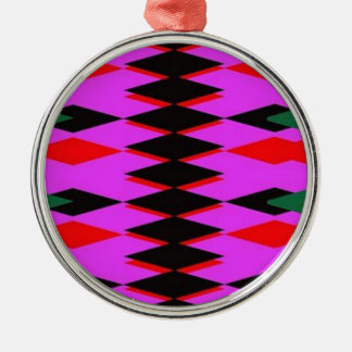 Harlequin Hot Pink Jokers Deck Silver-Colored Round Decoration